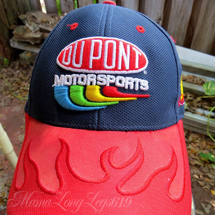 Distressed Dupont Motorsports NASCAR Hat Cap #24 Chase Hendrick S/M Flames Brim #Chase #HendrickMotorsports