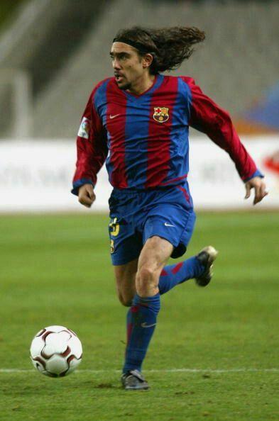 Juan Pablo Sorin of Barcelona (loan) & Argentina in 2003.