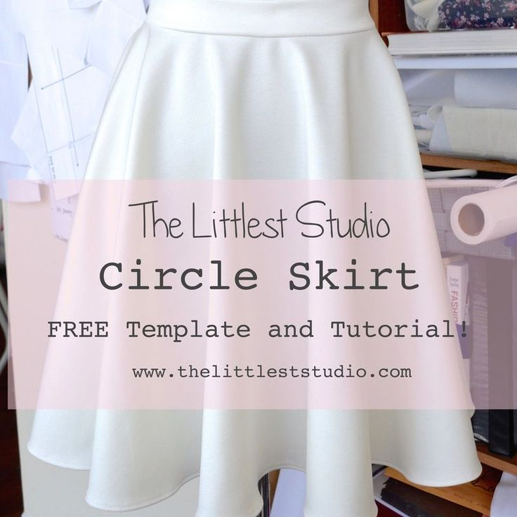 Circle skirt with template to cut your waist measurement.