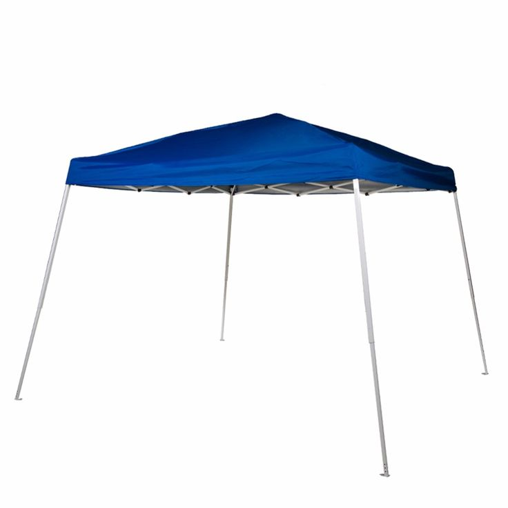 Abba Patio 8 x 8-Feet Slant Leg Instant Easy Pop Up Folding Canopy with Carry Bag Blue