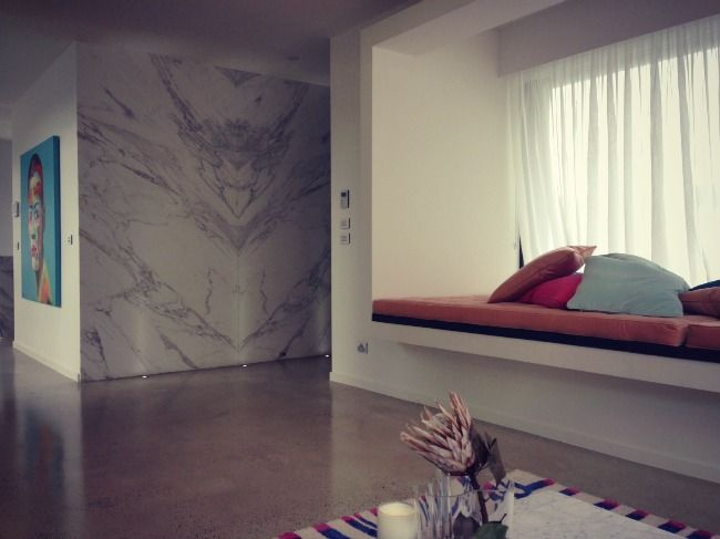 Marble & day bed... Bec & Chris Judd