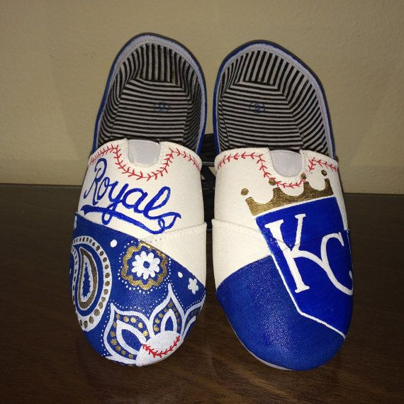 Kansas City Royals womens shoes by GetSpiritShoes on Etsy