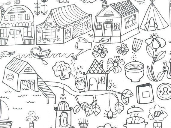 Childhood Fairy Stories   Tidny Cotton Fabric by momentintime, $9.00