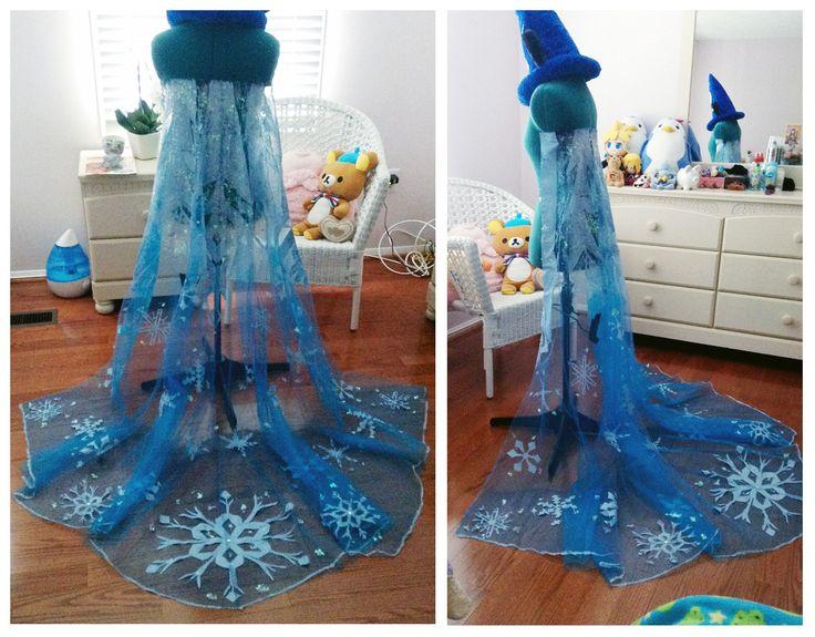 Elsa'a cape!!!!!!