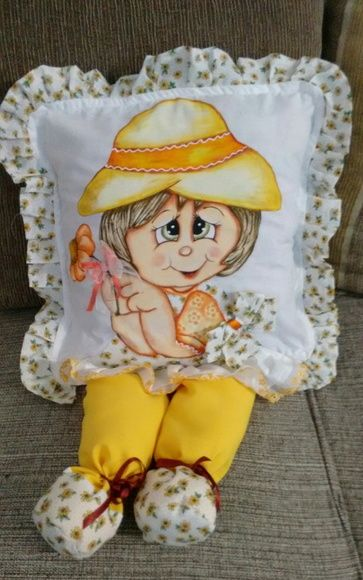 Capa para almofada boneca em 3D