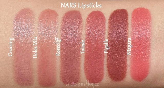 Swatches + Comparisons: By Terry Rouge Terrybly and Nars Sheer, Satin & Semi…
