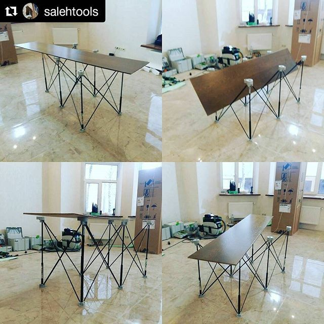 @salehtools showing off his new #CentipedeSupport on the #jobsite in this repost from #Russia:  #festool_of1010 #festoolme #centipedetool #папастол  #centipede папастол в деле #никакихсистемпросторабота ・・・ with @repostapp #CentipedeTool #portable #workbench #temporary #workshop #woodshop #worktable #workspace #stand #platform #sawhorse #rack #base #sawstand #carpentry #joinery #contractor #construction #builder #россия