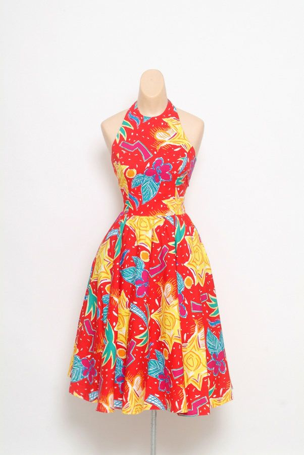 993997fe79 Excited to share the latest addition to my  etsy shop  Vintage 80s halter  dress   80s Dress