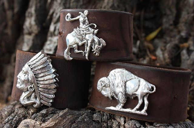Proud and excited about our new leather cuffs with custom made @sunsettrailssilver figures! Check them out in our Carmel store ☀️ . . . #burns1876 #sunsettrailssilver #sterlingsilver #custom #custommade #madebyhand #chief #nativeamericanchief #bronco #bison #symbolofthewest #western #leather #customleather #cuffs #leathercuff #carmelbythesea #parkcity #montereylocals - posted by Burns Cowboy Shop https://www.instagram.com/burns_1876. See more of Carmel By The Sea, CA at…