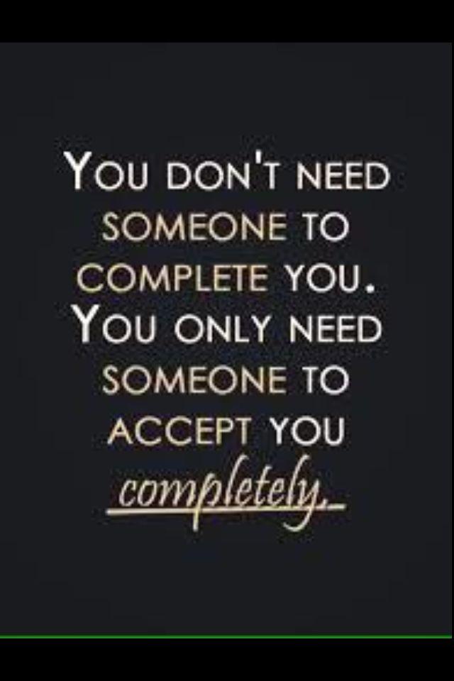 En jezelf accepteren ......