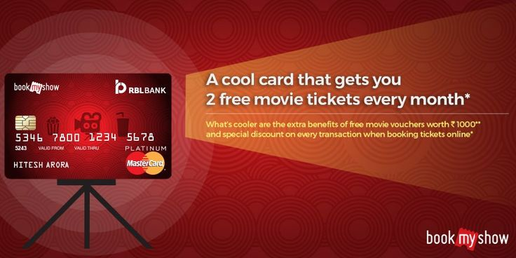 RBL Bank movies and more cardholders a cool offer that gets you 2 movie tickets every month and much more! Click on the image to know more.