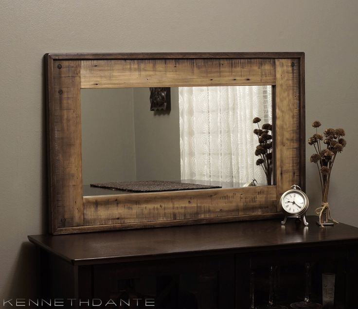 Farmhouse Wood Mirror By Kennethdante Modern Rustic