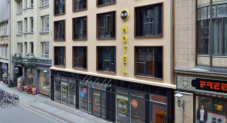 Außenansicht des B&B Hotels #Leipzig-City