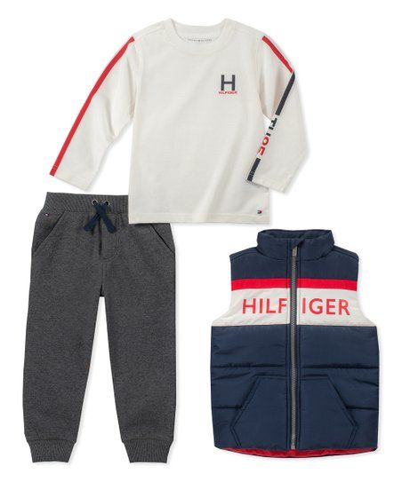48261faab17f Tommy Hilfiger Gray   Ivory Pants Set - Infant   Toddler