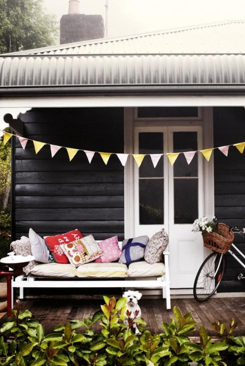 Australian cottage exterior love the black & tin roof !