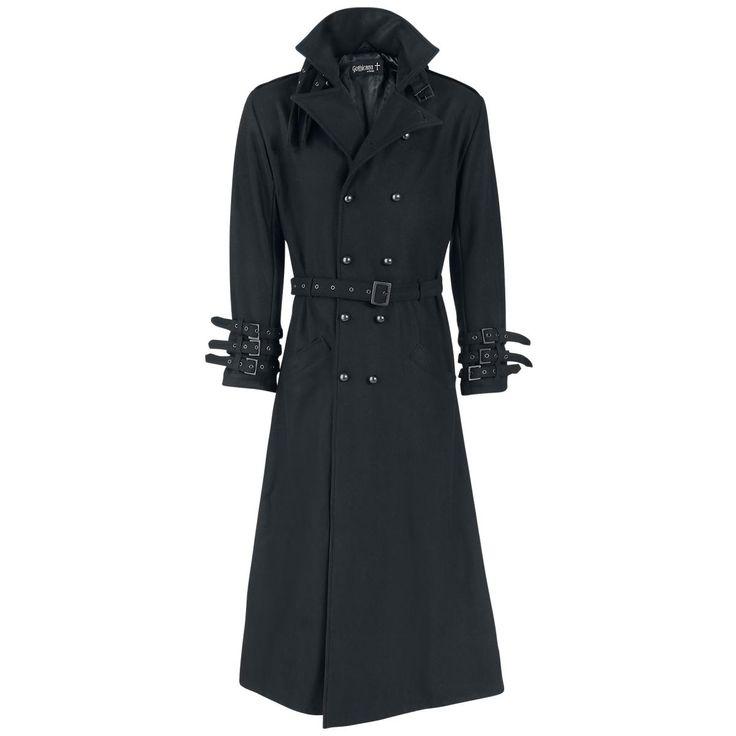 Gothicana by EMP Abrigo militar »Black Rider Coat« | Cómpralos en EMP | Más Básicos Abrigos militares disponibles online ✓ ¡Precios inigualables!