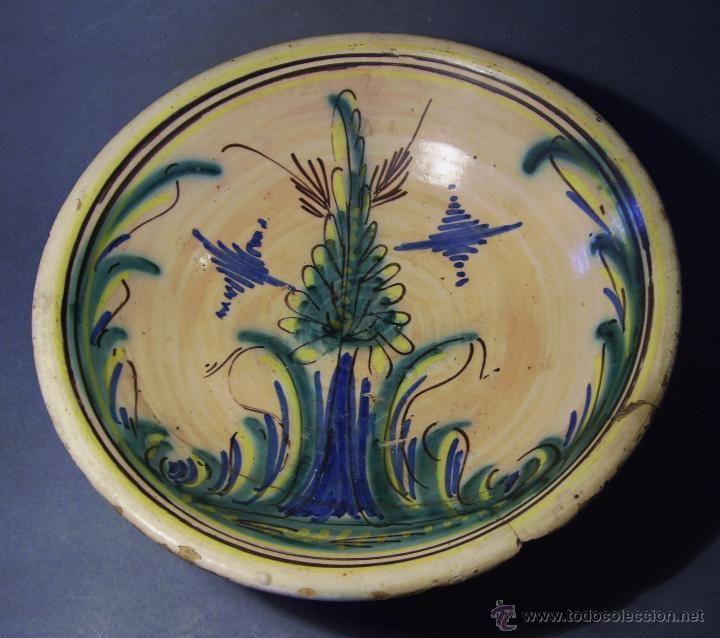 gran plato ceramica puente del arzobispo - - Comprar Porcelana y Cerámica de Puente del Arzobispo en todocoleccion - 46378717