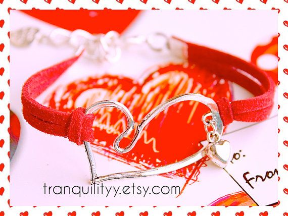 Infinity Heart Valentine Bracelet Love You Double by tranquilityy