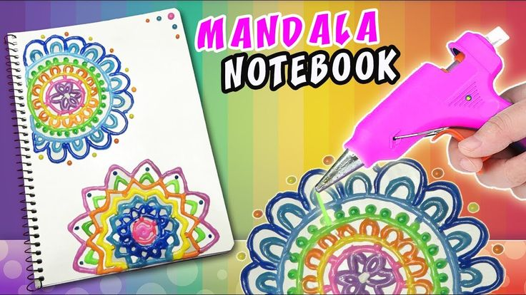 DIY SILICONE MANDALA NOTEBOOK - BACK TO SCHOOL | aPasos Crafts DIY - YouTube