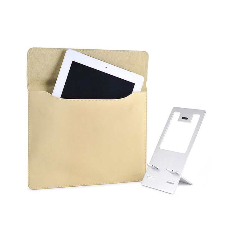 [Mipow] New iPad / iPad2 Wonder Pouch Cowhide + 2 Angle Stand Package (Beige)
