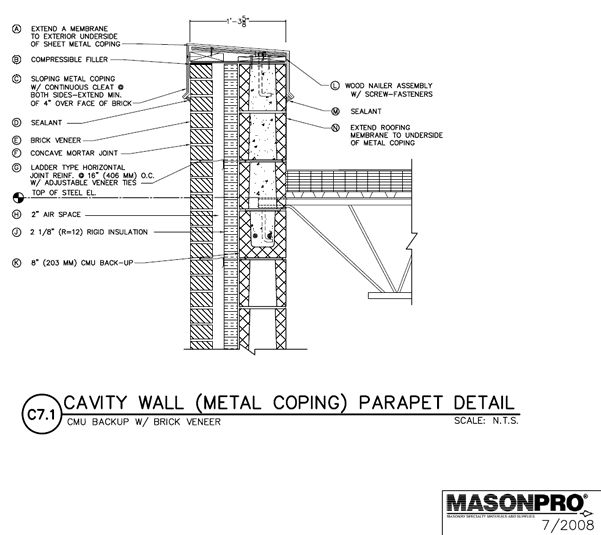 24 best construction masonry images on pinterest architectural drawings concrete and facades - Double brick cavity walls ...