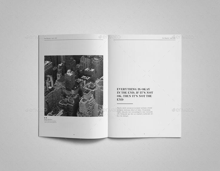 Pure Magazine Template | GraphicRiver