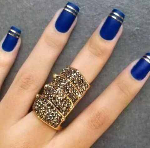 Dark blue and gold lines