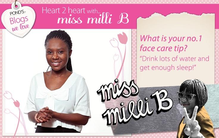 We asked @Milisuthando Bongela -  www.missmillib.blogspot.com - what her no.1 face care tip is ... #Beauty