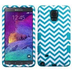 Samsung Note4 Hybrid Tuff Design Blue Wave Tropical Teal