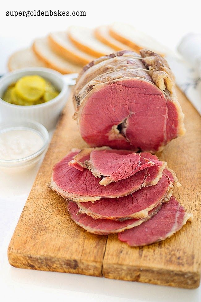 Homemade salt beef is E A S Y and tastes freaking fantastic! Recipe on Supergolden Bakes.