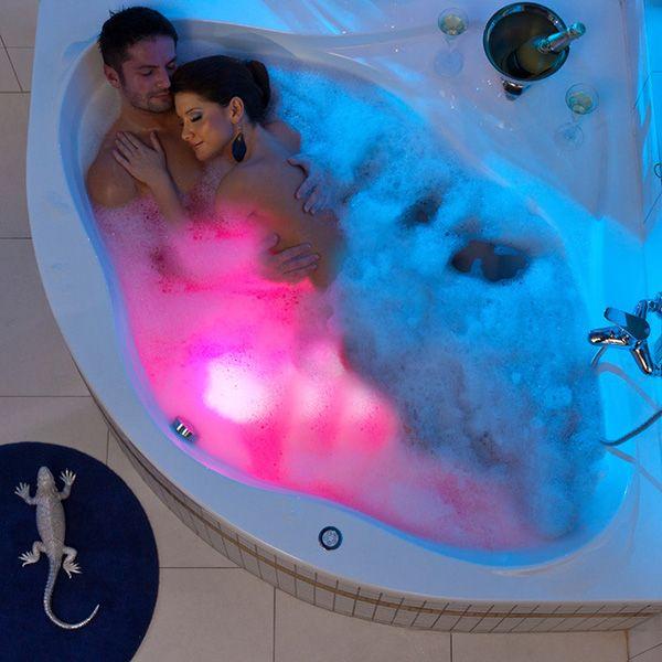 Une baignoire pour deux coloré !