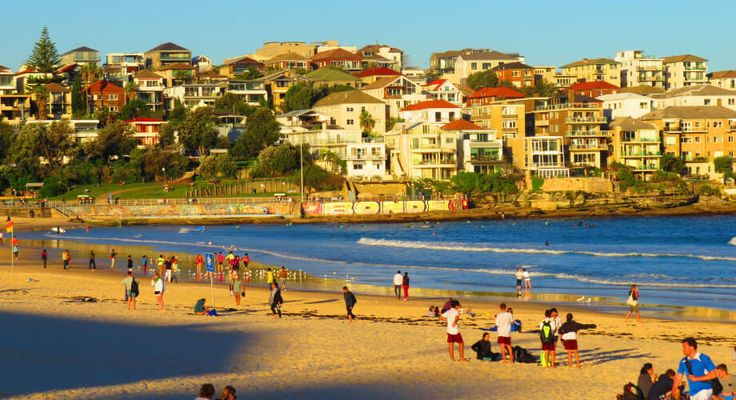 View of Bondi Beach, Australia So busy during the season ... So empty at winter