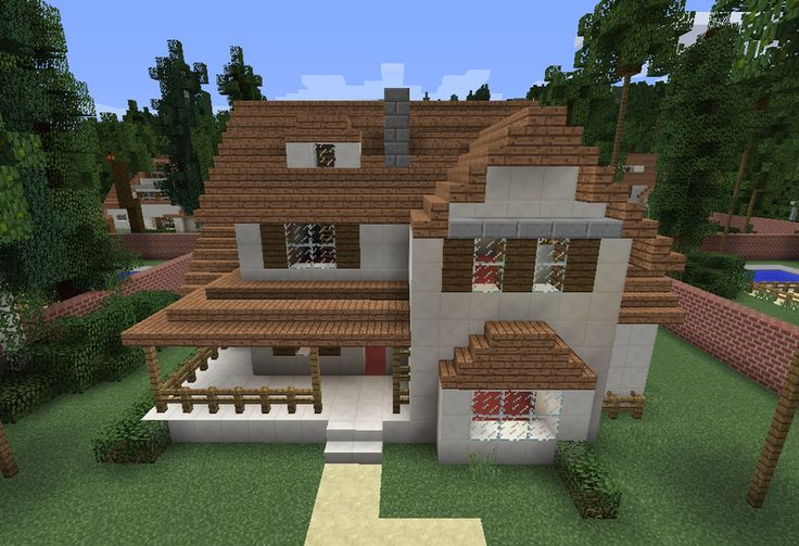 Modern Wooden House 8 - GrabCraft - Your number one source for MineCraft buildings, blueprints, tips, ideas, floorplans!