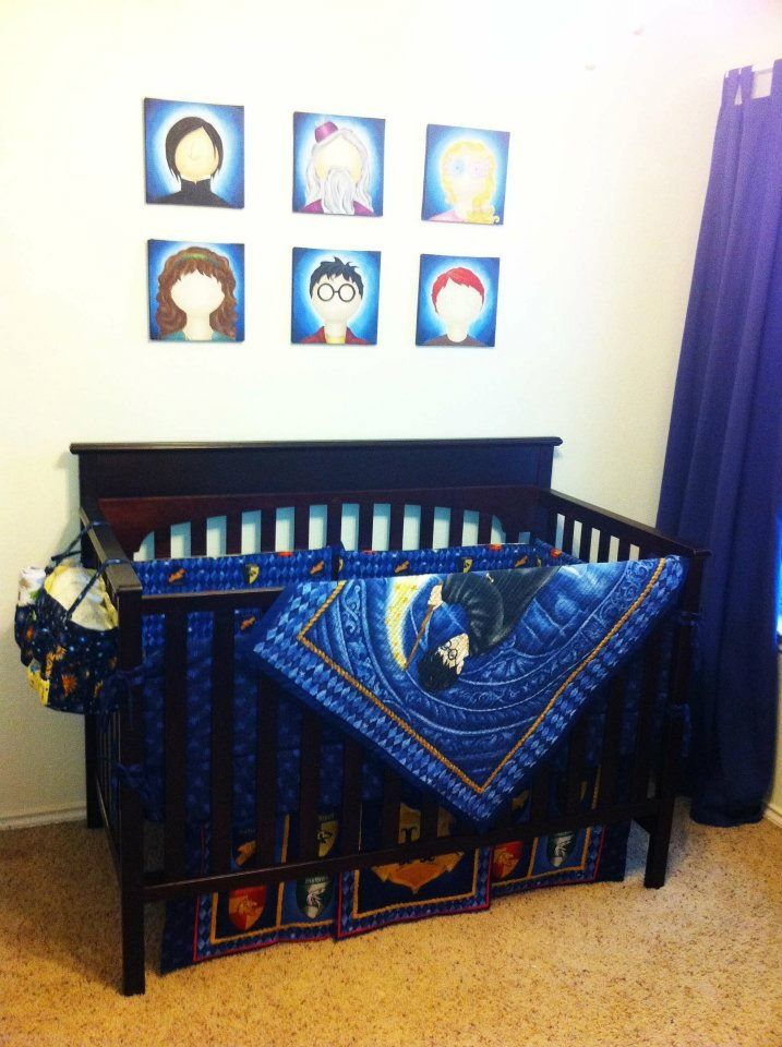 Hand made harry potter crib set i need a baby just for this reason harry potter - Harry potter crib set ...