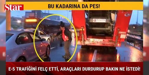 Bu kadarına da pes! E-5 trafiğini felç etti araçları durdurup bakın ne istedi! : Şirinevlerde trafiğin felç olmasına yol açan tır sürücüsünün yoldan geçen araçları durdurarak sigara istemesi görenleri hayrete düşürdü.  http://www.haberdex.com/turkiye/Bu-kadarina-da-pes-E-5-trafigini-felc-etti-araclari-durdurup-bakin-ne-istedi-/101569?kaynak=feed #Türkiye   #araçları #felç #durdurarak #sürücüsü #geçen