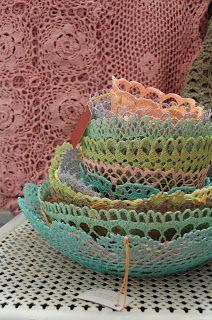crochet lace bowls - lovely
