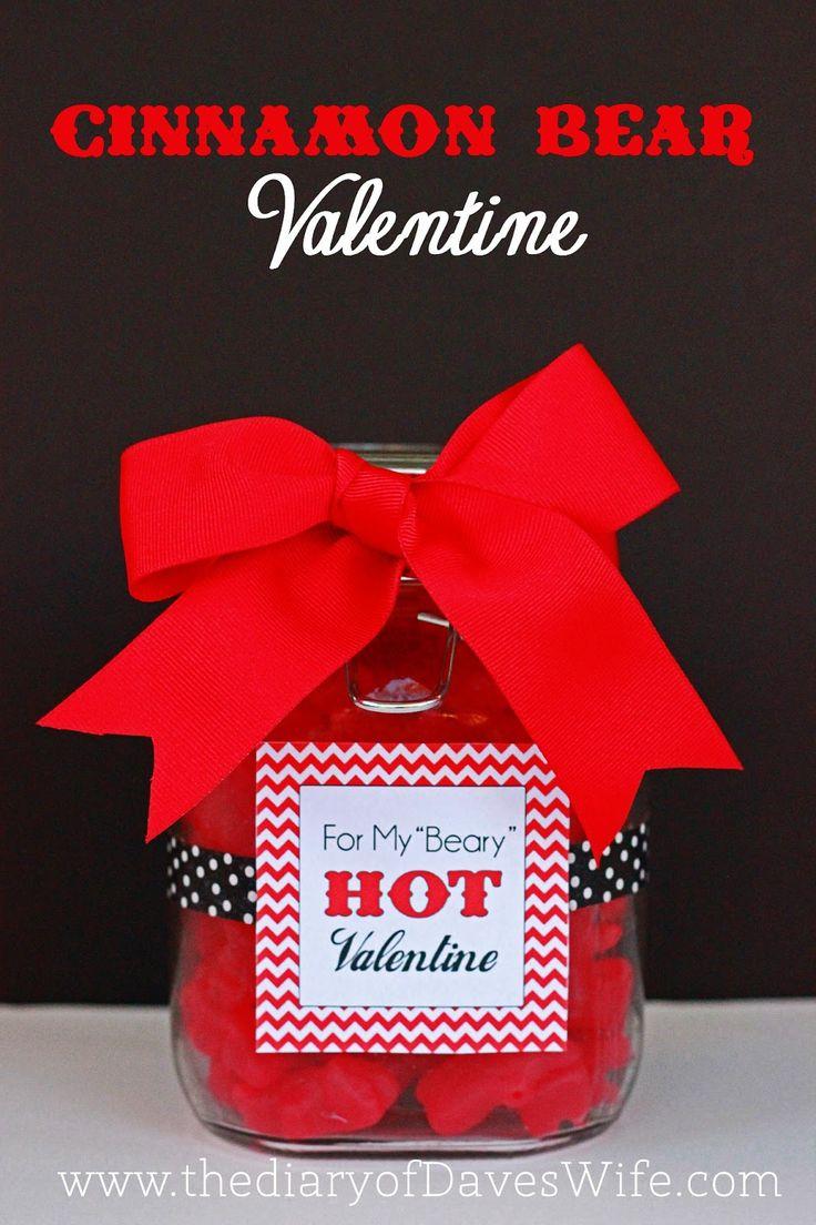 Cinnamon Bear Valentine with Free Printable Tag