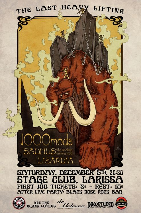 all the heavy lifting radio show ends with a big awesome session. 1000mods -Sadhus the smoking community -Lizardia