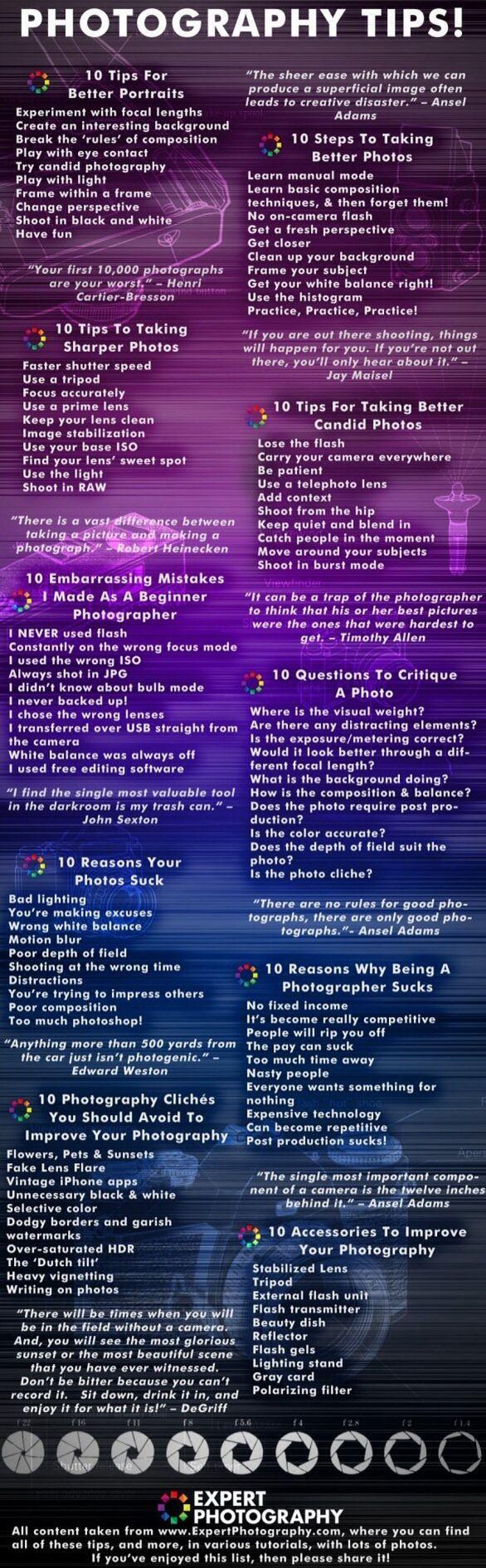 100 photo tips