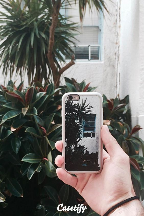 Turn your favourite photos into a iPhone 6 custom protective phone case at casetify.com/make or download the #Casetify app #palmtree #gardenart | @casetify