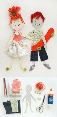 Decorated paper dolls