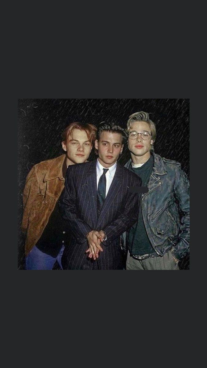 Leo Brad And Johnny Wallpaper Johnny Depp Wallpaper Johnny Depp Leonardo Dicaprio Young Johnny Depp