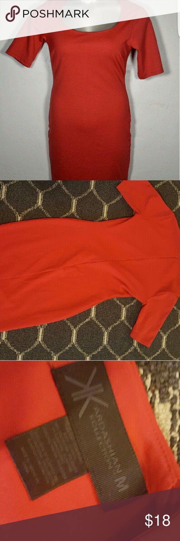 Kardashian Kollection Red Dress PERFECT for the holidays. Kardashian Kollection red dress. Size medium. Kardashian Kollection Dresses