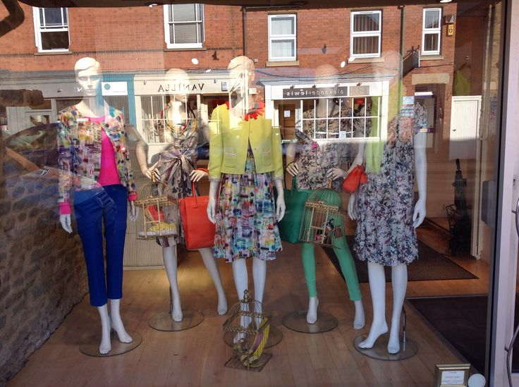 Summer brights in Cavells window