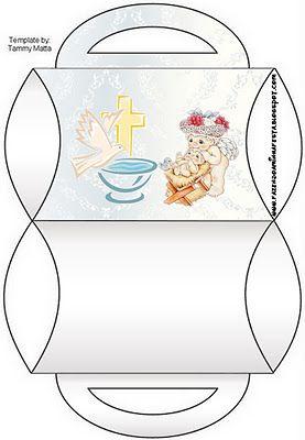 Cajitas imprimibles para bautismo.