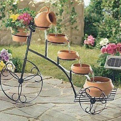 fonte na bicicleta