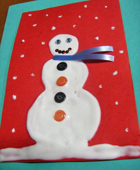 3-D Snowman Greeting Card - Easy Christmas Craft for Kids - JumpStart