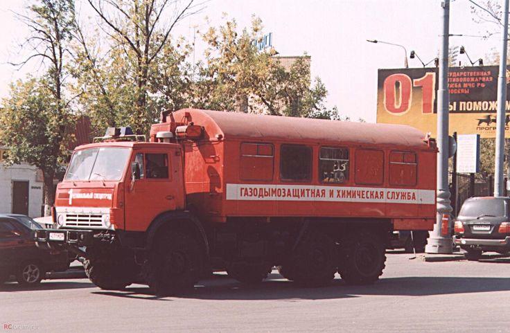02 КАМАЗ-43101 (ГДЗХС) в пожарной раскраске ...