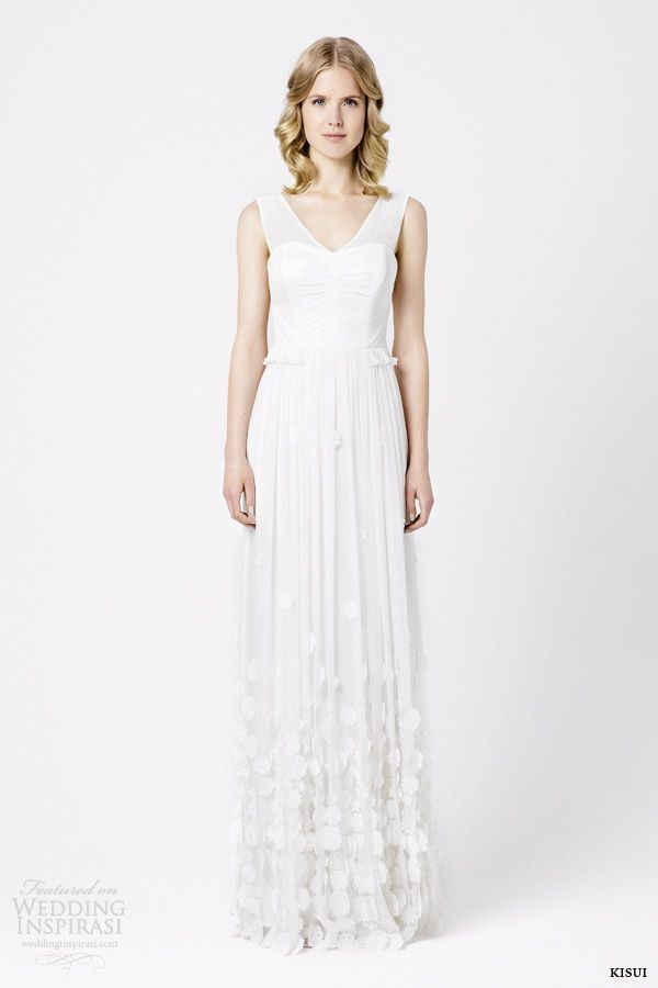 kisui bridal 2015 daisy sleeveless wedding dress