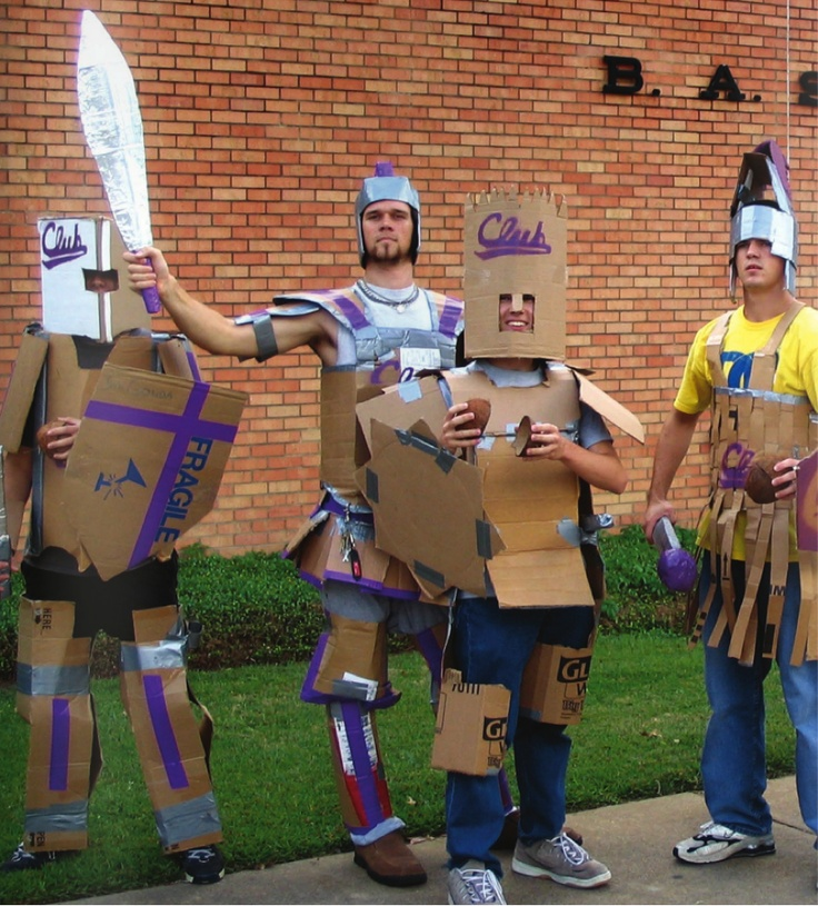 All shall fear the knights in cardboard armor! http://www.letu.edu/Cardboard Armors
